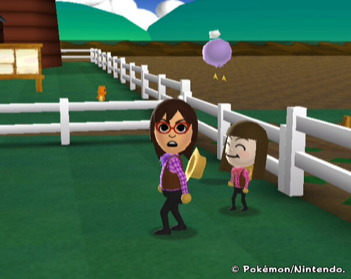 "Luana and young Lorelei playing ""My Pokemon Ranch"" together"