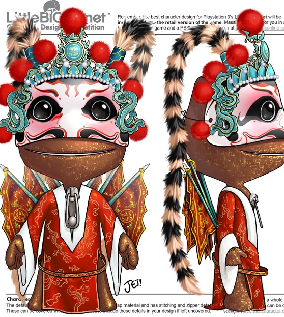 Sackboy 'Chinese Opera' design by jetoaster