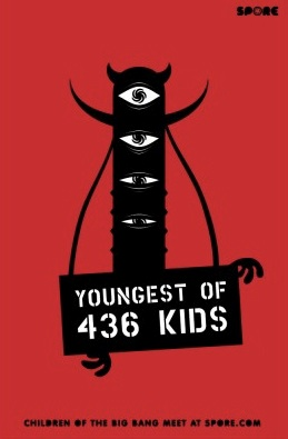 Youngest of 436 Kids Spore promo poster