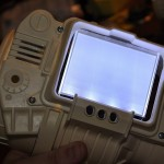 With only a little bit of dremeling, the LCD sits flush in the Pip-Boy's chassis.