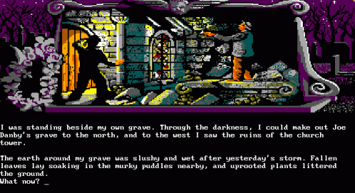 A screenshot of 'Scapeghost' in DOS