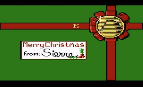 Screenshot: a Christmas card from Sierra