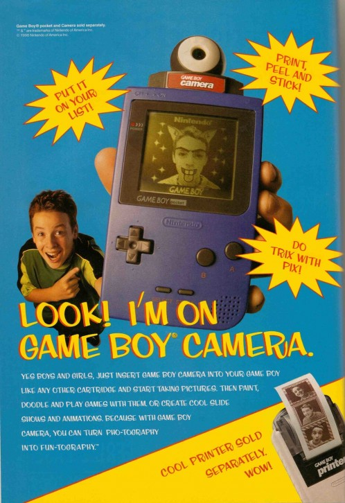 Look! I'm on Game Boy Camera