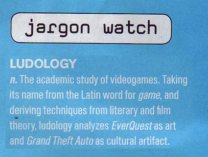 Ludology, Wired Magazine, 2006